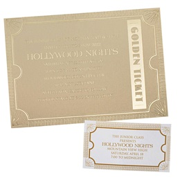 Golden Shine Invitation and Ticket Set