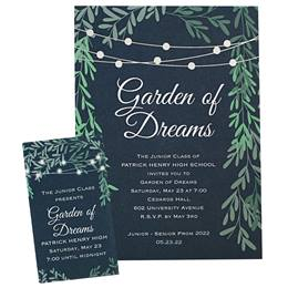 Lights in the Garden Invitation and Ticket Set