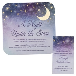 Star Gazing Invitation and Ticket Set