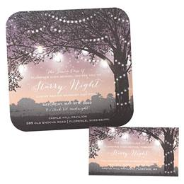 Garden Sunset Invitation and Ticket Set