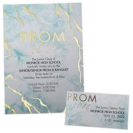 Marble Prom 2020 Invitation and Ticket Set