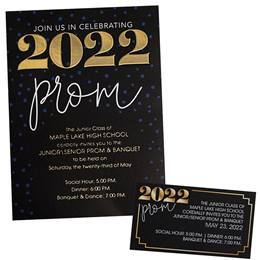 Grand 2020 Prom Luxury Invitation and Ticket Set