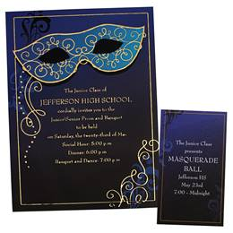 Masquerade Ball Mask Luxury Invitation and Ticket Set
