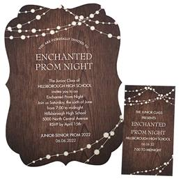Rustic Lights Invitation and Ticket Set