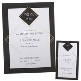 Diamond Deco Invitation and Ticket Set