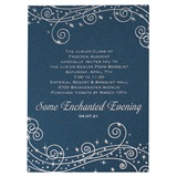 Blue Starlight Swirls Invitation