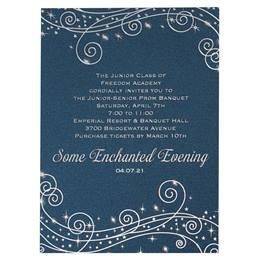 Invitations with Foil Accents