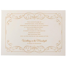 Elegant Swirls Invitation