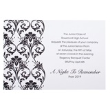 Black Foil Damask Invite