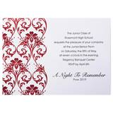 Red Foil Damask Invite