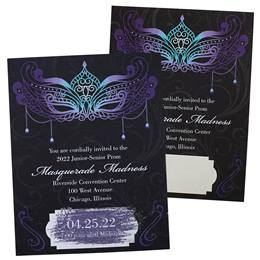 Sapphire Mask Scratch-off Invitations