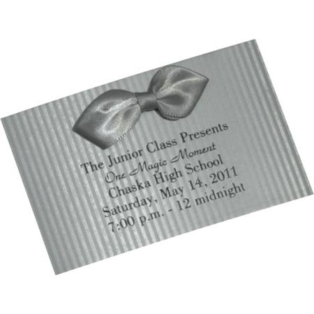 Silver Pinstripe Bow Tie Ticket