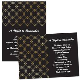 Full-color 5x7 Invitation - Gold Dot Art Deco