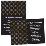 "Gold Dot Art Deco 4"" x 6"" Invitation"