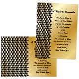 "Triangle Deco 4"" x 6"" Invitation"