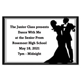 Full-color Ticket - Formal Couple
