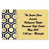 Full-color Ticket - Gold Honeycomb