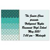 Full-color Ticket - Teal Scallops
