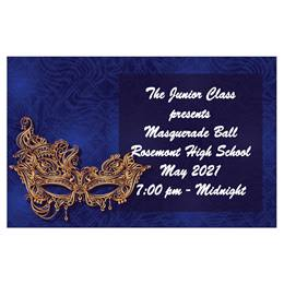 Venetian Mask Full-color Ticket