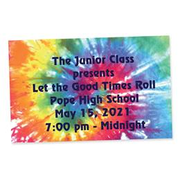 Full-color Ticket-Tie-dye Rainbow