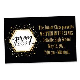 Full-color Ticket-Golden Stars Prom 2021