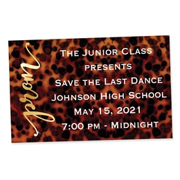 Full-color Ticket-Leopard Print Prom
