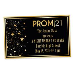 Full-color Ticket-Gold Star Quality Prom 2021