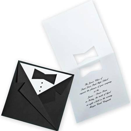 Folded Tux Invitation