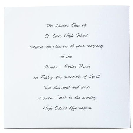 Flecks of Gold Invitation