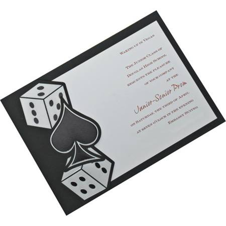 Casino Craze Invitation