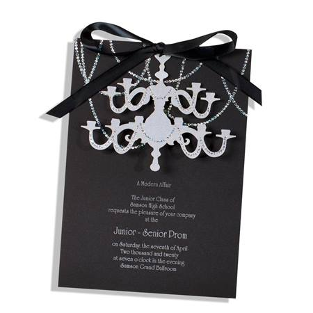 Sparkle Chandelier Invitation