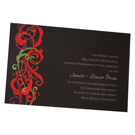 Neon Swirls Invitation