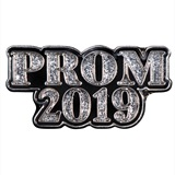 Silver and Black Prom 2019 Pin