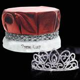 Adele Tiara and Metallic Crown Prom Set