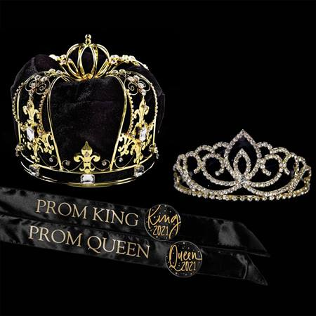 Supreme Sovereign Prom King and Queen Set