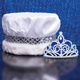 Crushed Satin Crown and Sutton Tiara Set