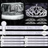 Homecoming Coronation Set - White and Silver
