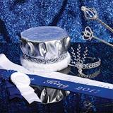 Silver Sophistication Prom Royalty Set With Scepters