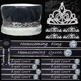 Black and Silver Homecoming Coronation Set for 10