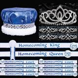 Blue and White Homecoming Coronation Set for 10