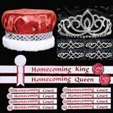 Red and White Homecoming Coronation Set for 10