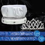 Satin Crown, Tiara and Sash Homecoming Set - Armande Tiara