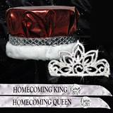 Metallic Crown, Tiara and Sash Homecoming Set - Falling Stara Tiara