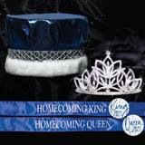 Metallic Crown, Tiara and Sash Homecoming Set - Olive Tiara