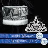 Metallic Crown, Tiara and Sash Homecoming Set - Sutton Tiara