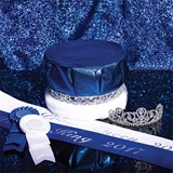 Silver Sparkle Prom Royalty Set Without Scepters