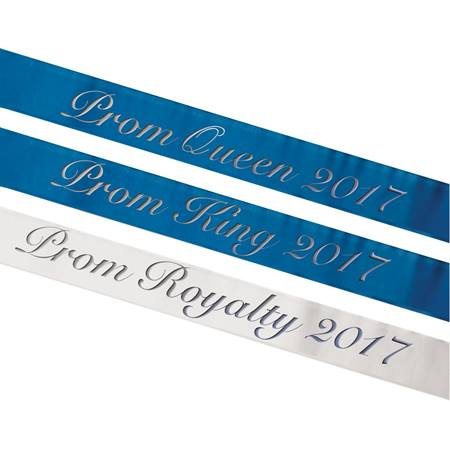 Blue and White Prom 2017 Sash Set