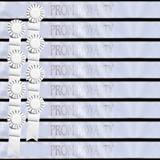 Prom Royalty Sash Set - White with Silver Foil