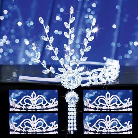 Prom Tiara Set - Silver Daisy Queen and Arilda Court