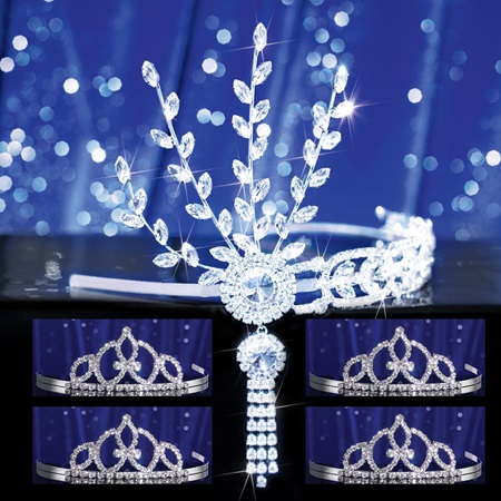 Prom Tiara Set - Silver Daisy Queen and Francine Court